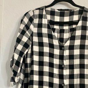 Zara Dresses - Black and white checkered dress